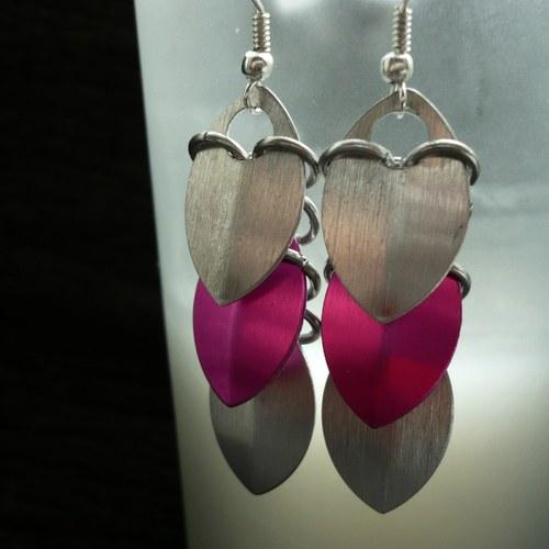Šupinky pink & silver