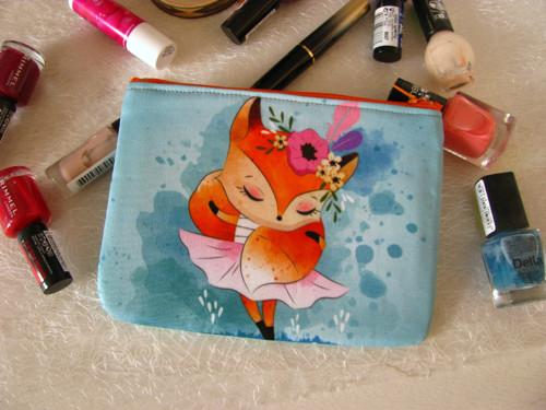 Taštička na kosmetiku- Liška tanečnicí