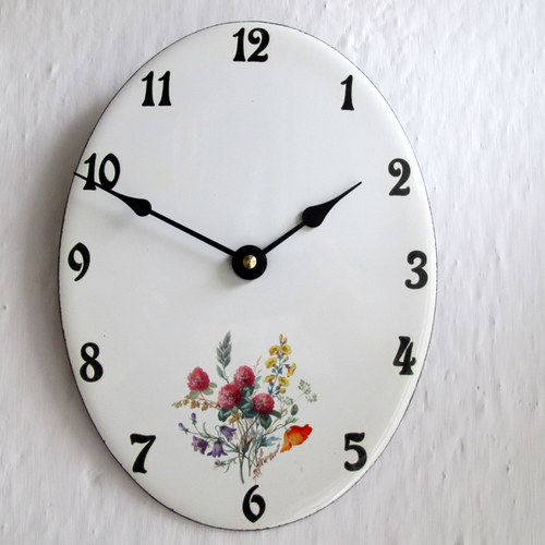 Smaltované hodiny velké 196