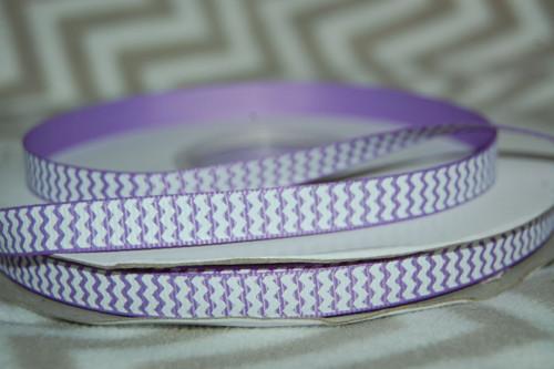 Stuha rypsová š.10 mm: Chevron- fialová