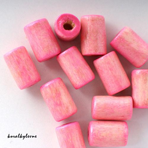 Váleček dřevěný světle růžový 40ks!