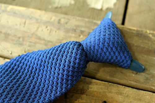 Originální pánská vintage pletená kravata z 60.let