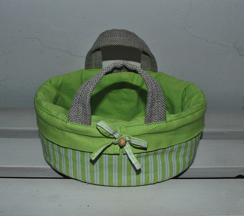 Košík látkový zelený