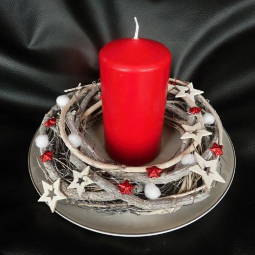 Vánoční dekorace svícen