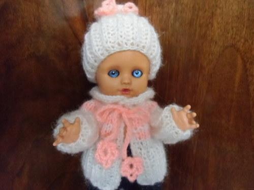 Zimní souprava - Meruňková, na panenku