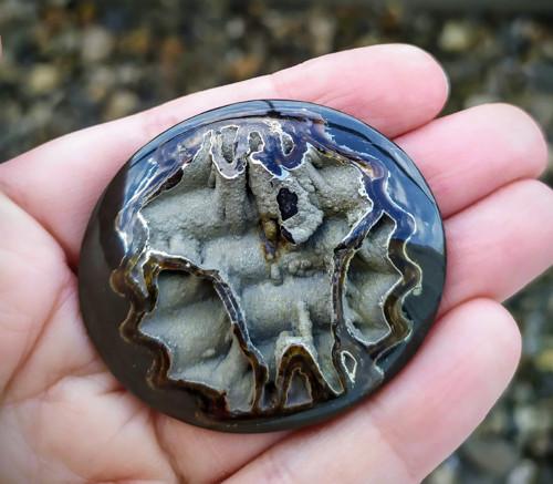 Simbircito-amonitová geoda, ID 1203, 48x42 mm