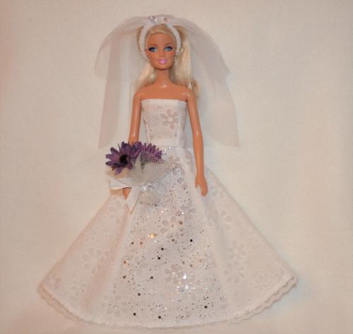 Barbie svatební šaty 19