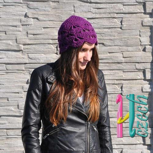 Jarní vějířková čepice - vyberte si barvu