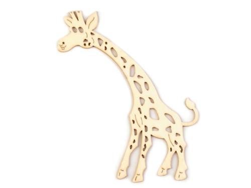 Dřevěný výsek - žirafa