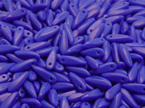 50ks Jazýček 3x11mm Modrá sytá