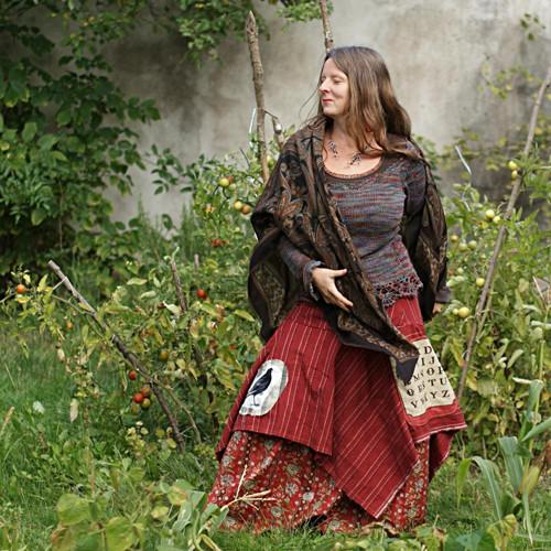 podzimní čarování ... maxi sukně vel. M