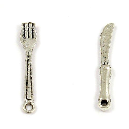Dva přívěsky - příbor (vidlička a nůž)