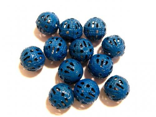 1603009/Filigránový korálek barvený,modrý, 3