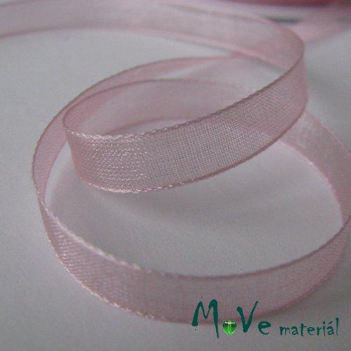 Šifónová stuha růžová 6mm, 1m
