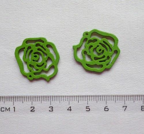 Dřevěné ramínko - zelené (cena za 2 ks)