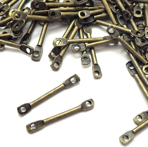 Bronzové mezidílky - tyčinky, 20 kusů