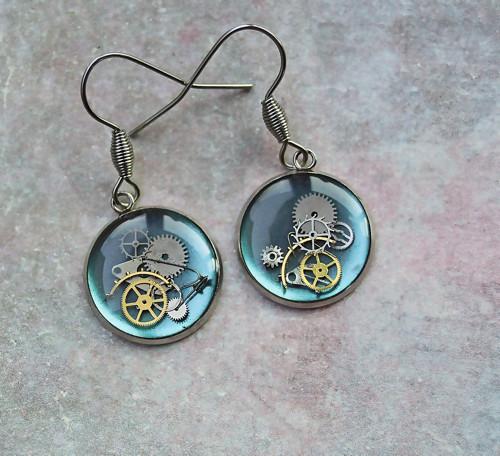Earings /dark blue/