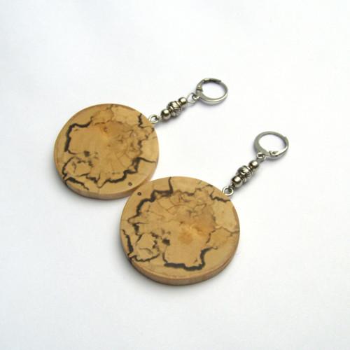 Špaltovaná breza - hubami maľované