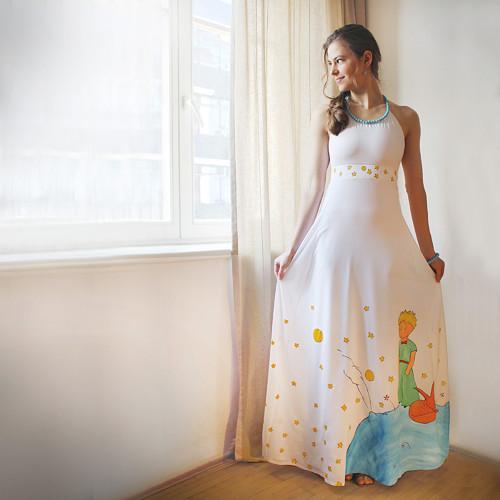 Ručně malované šaty s Malým princem