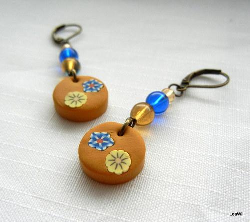 Perníkové květinky - naušky
