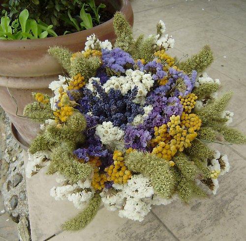 veselá barevná  kytice