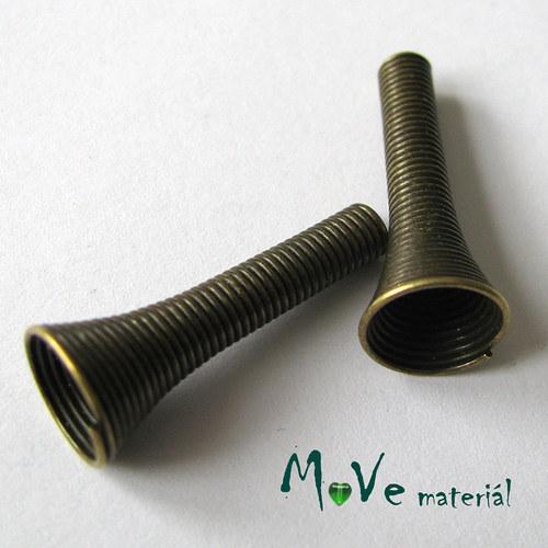 Kaplíky spirálka 24x10mm/3mm, 2ks, staromosaz