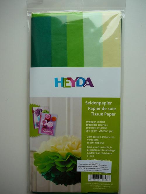 Hedbávný papír 50 x 70 cm, 10 ks