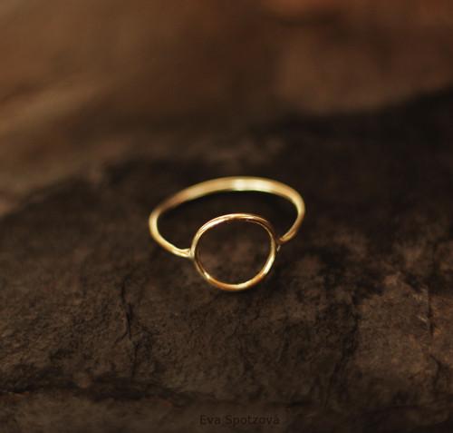 GG N°9 prsten - žluté zlato (Au 585/1000)