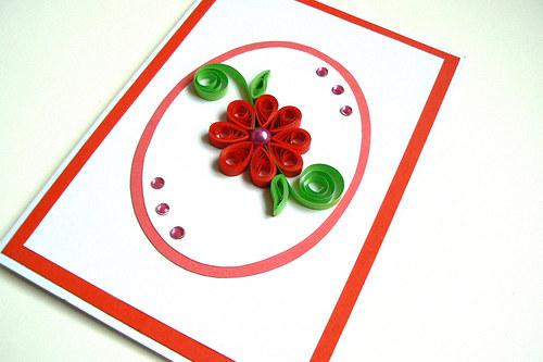 Květina s perličkou