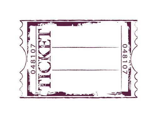 Maxistamp-razítko na pěně 10x15 cm Jízdenka