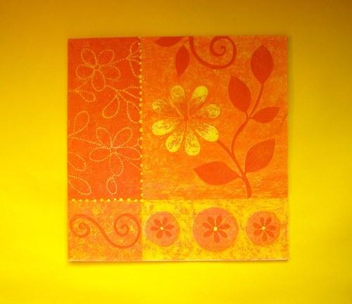 Oranžová záplava květin
