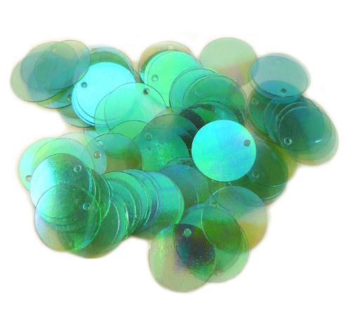 flitry kulaté zelené
