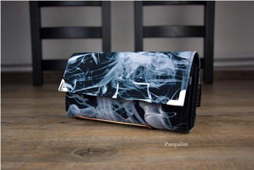 Veliká peněženka na dvě měny - Kouř