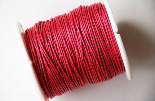 voskovaná šňůrka 10m- tmavě růžová