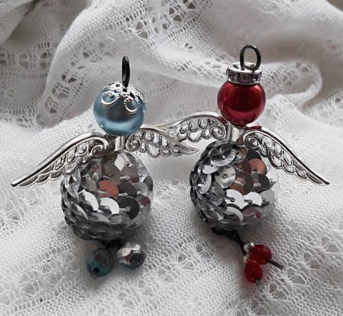 Stříbrňáčci - dekorace/talisman andílek