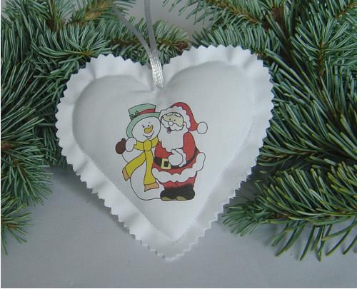 Vánoční srdíčko 9