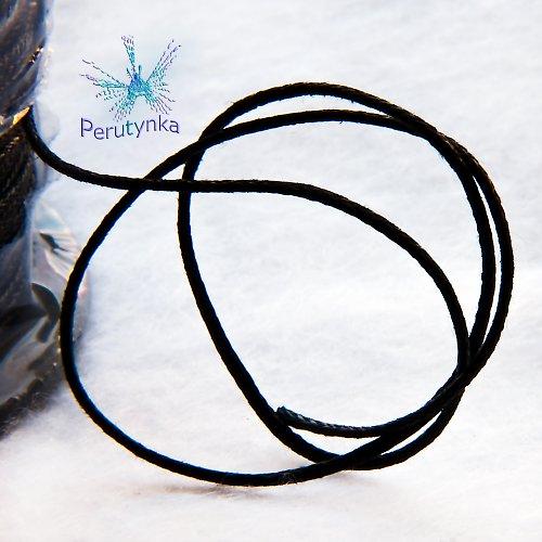 Voskovaná šňůrka, černá, 1mm, délka 5m