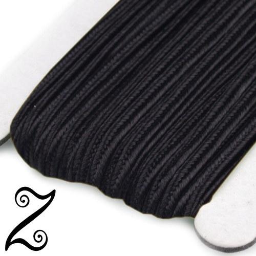Sutaška, black, 3 mm (1m)