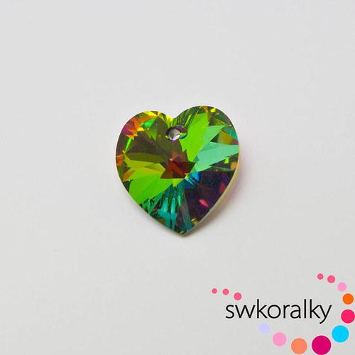 SRDCE XILION 18 SWAROVSKI®ELEMENTS vitrail medium