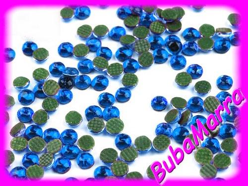 ~100ks~  nažehlovací kameny~ HOT FIX ~  modrá