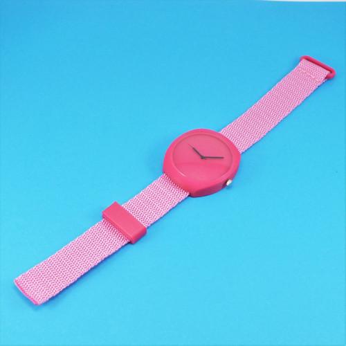 Designové hodinky duha magenta