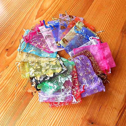 Textilní Sáček 9x12cm - 10ks - Mix