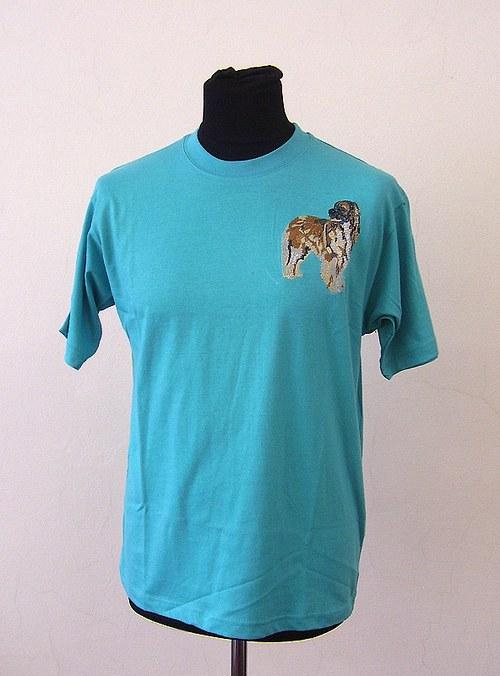 triko s výšivkou leonbergra