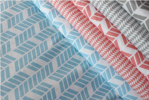 Modrá geometrie na 100% bavlně