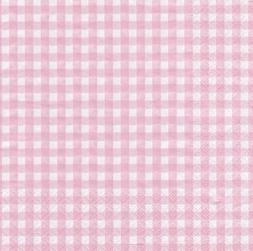 Ubrousek - čtverečky růžové