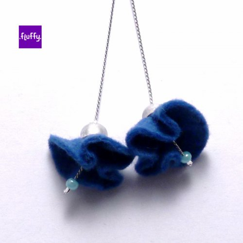 Fluffy Flowers - Blue