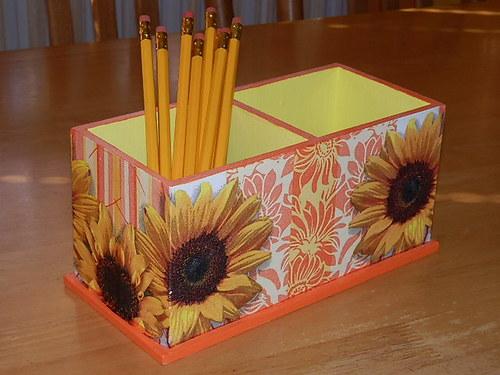 Dvojstojánek na tužky Slunečnice