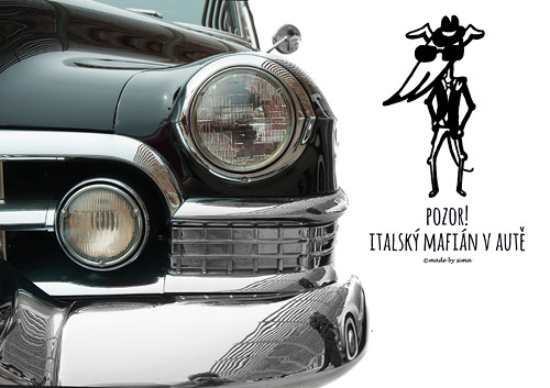 Italský mafián v autě