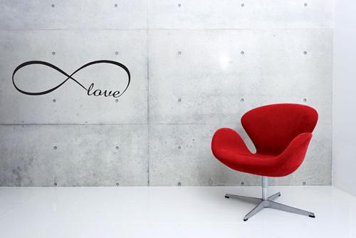 Samolepka na zeď - nápis Love