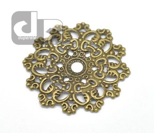 Ozdobný bronzový filigrán 2 ks